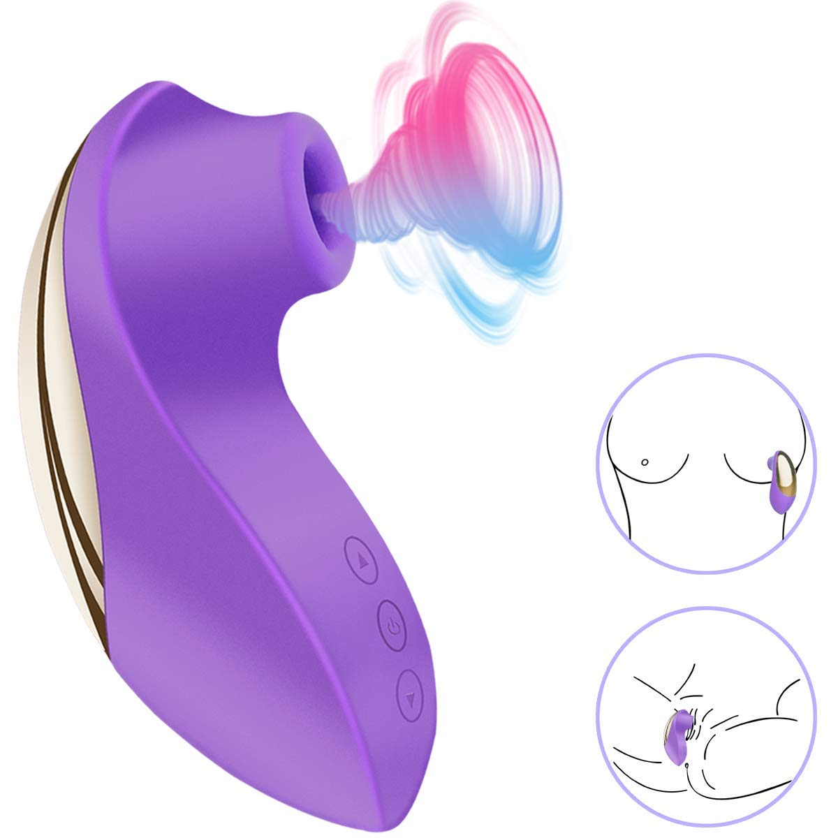 BOMBEX Clitoral Sucking Vibrator - Clit Sucker with 10 Frequencies| Waterproof Rechargeable Nipple Stimulator| Oral Sex Simulator Sex Toy for Women by BOMBEX
