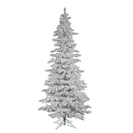 vickerman spruce flocked white on white christmas tree 65 feet - Amazon White Christmas Tree