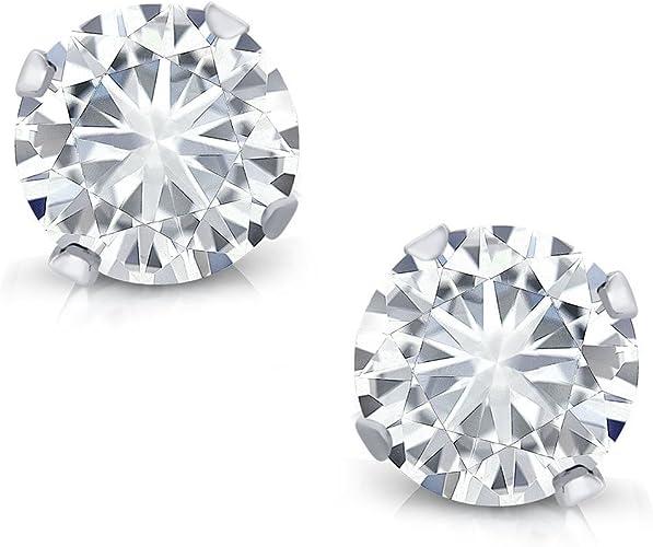 Female Gift 925 Sterling Silver Earrings Moissanite Earrings Pair Simulated Diamond Earrings Jewelry Moissanite Earlobe For Her