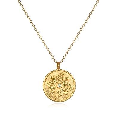 f7f0121b48b189 Satya Jewelry Peridot Gold Plate Gladiolus August Flower Birthstone  (18-Inch) Pendant Necklace