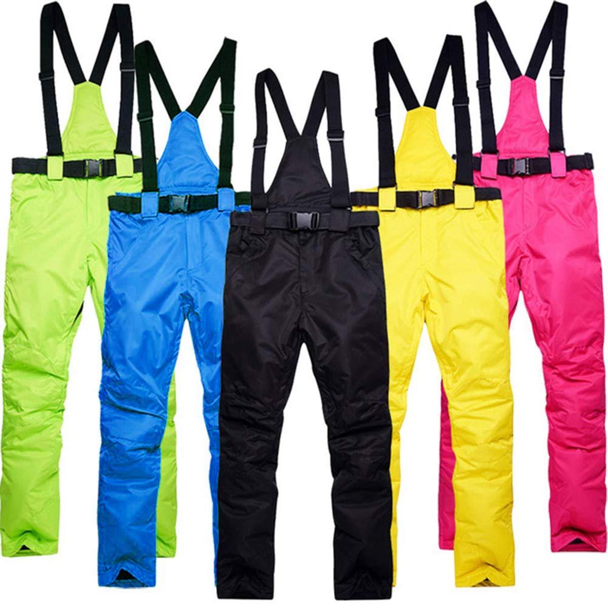 Caldo Funzionale Ispessito Pantaloni Montagna Pantaloni da Sci Pantaloni da Trekking Outdoor Autunno Inverno Traspirante BEMEI Pantaloni da Sci per Le Donne Cinghie Staccabili Impermeabili