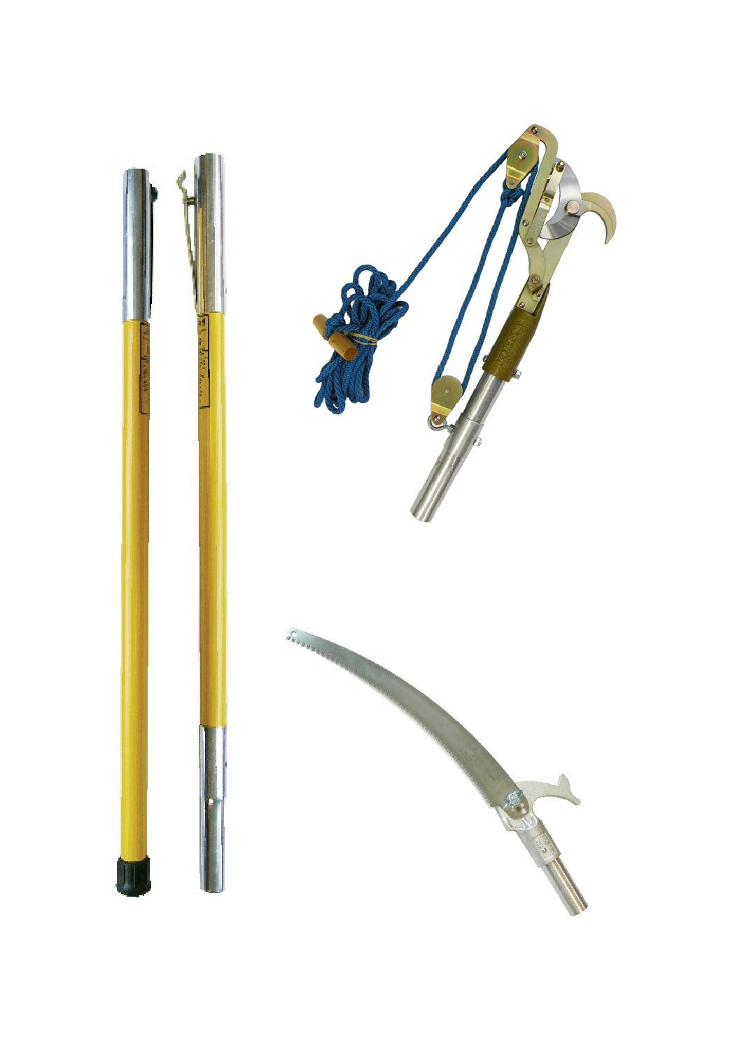 Pruner and Pole Saw Kit with Two FG 6' Fiberglass Poles by Jameson by Jameson