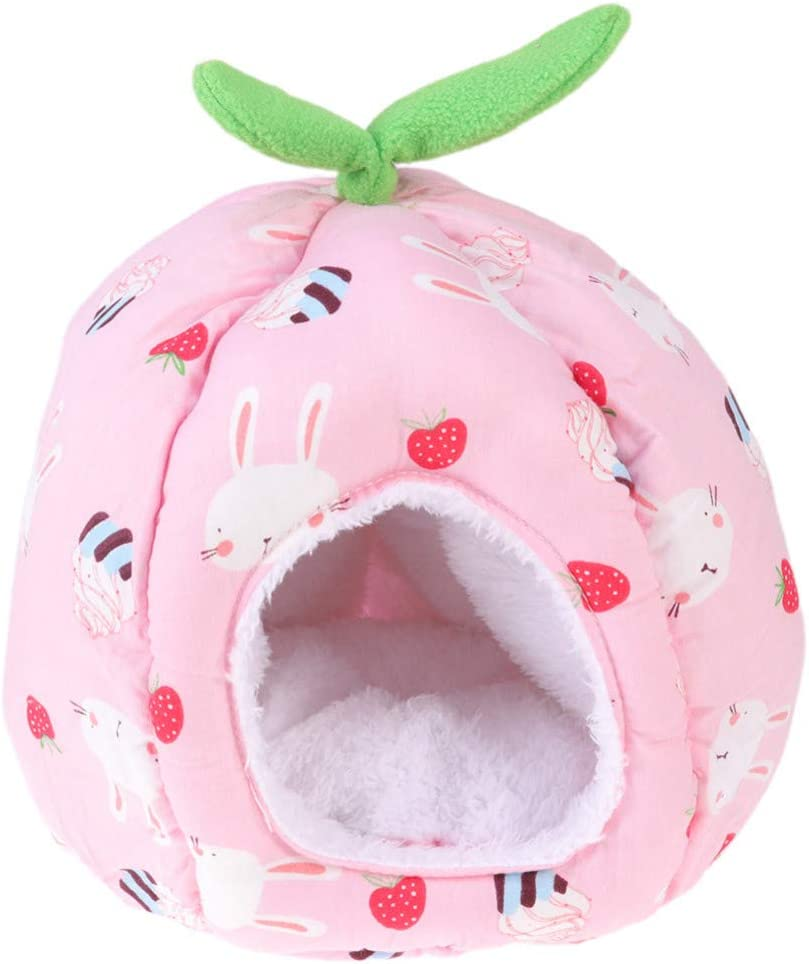 Squirrels Hamster Chinchillas Size S POPETPOP Warm Guinea Pig House Bed Hedgehog Guinea Pig Hanging Cage Cave Bed Adorable Unicorn Shape Small Animals Winter Nest