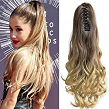 Neverland Beauty 20 inches (50cm) Ombre Two Tone Long Big Wavy Claw Curly Ponytail Clip in Hair Extensions 8#/25#