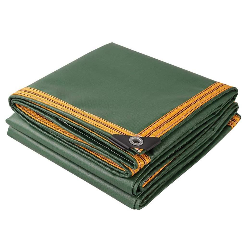 alta qualità genuina Gxmyb Tarp Tarp Tarp Tarpaulin verde con Bordi rinforzati, tarpe Resistenti alle Cadute Pesanti, Telo Impermeabile al 100% - 650 g m² (Dimensioni   3mx6m)  protezione post-vendita