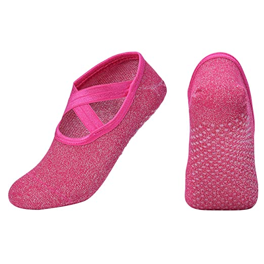 Amazon.com : LUNA Yoga Socks Barre Socks with Grips for ...