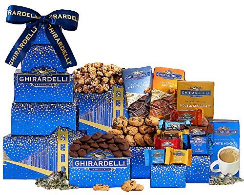 Wine Country Gift Baskets Deluxe Ghirardelli Gift Tower Chocolate Gift Tower Holiday Gift Tower Christmas Gift Tower Perfect For Family Gift, Business Gift, Co-Worker Gift, Loved One Gift -