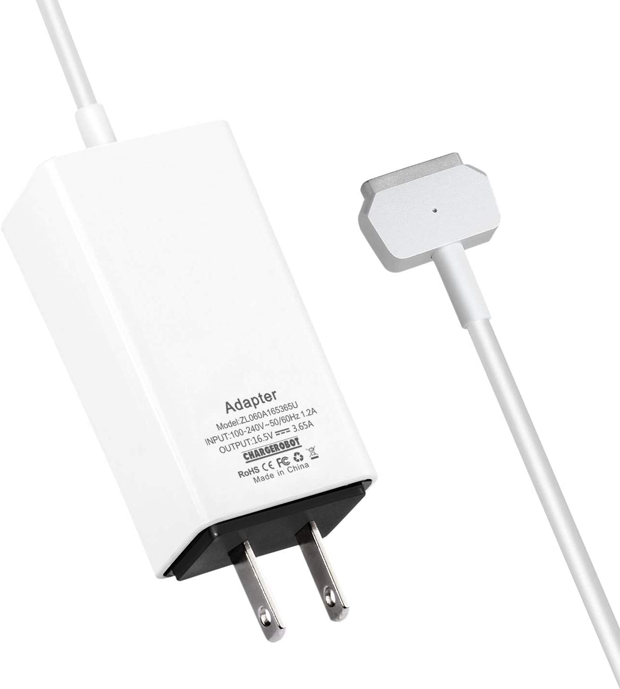 60W Mini Charger for MAC MacBook Pro 13 inches with Retina Display (Made After Late 2012),Replacement for Magnetic 2 T-tip Power Adapter
