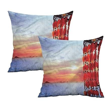 Amazon.com: Khaki home Beach Square Slip Pillowcase ...