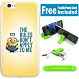 [ASHLEY CASE] Apple iPhone 7 Plus Cover Case Skin with Flexible Phone Stand - Minions The Rules V