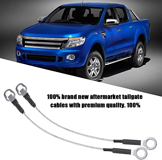 2Pcs Pickup Truck Tailgate Tail Gate Cables for Ford Ranger Mazda 93-11 Tailgate Cables