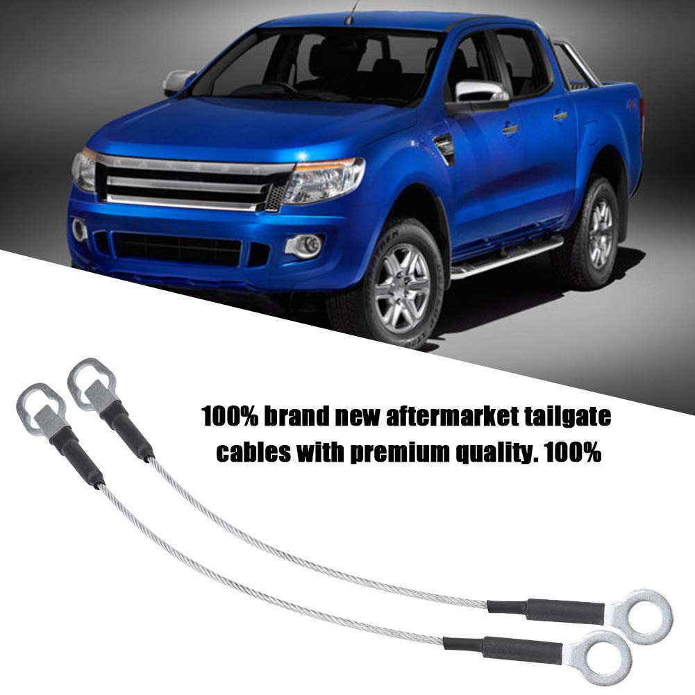 KIMISS 2Pcs Tailgate Door Lines Tail Gate Cables for Pickup Truck Ford Ranger Mazda 93-11