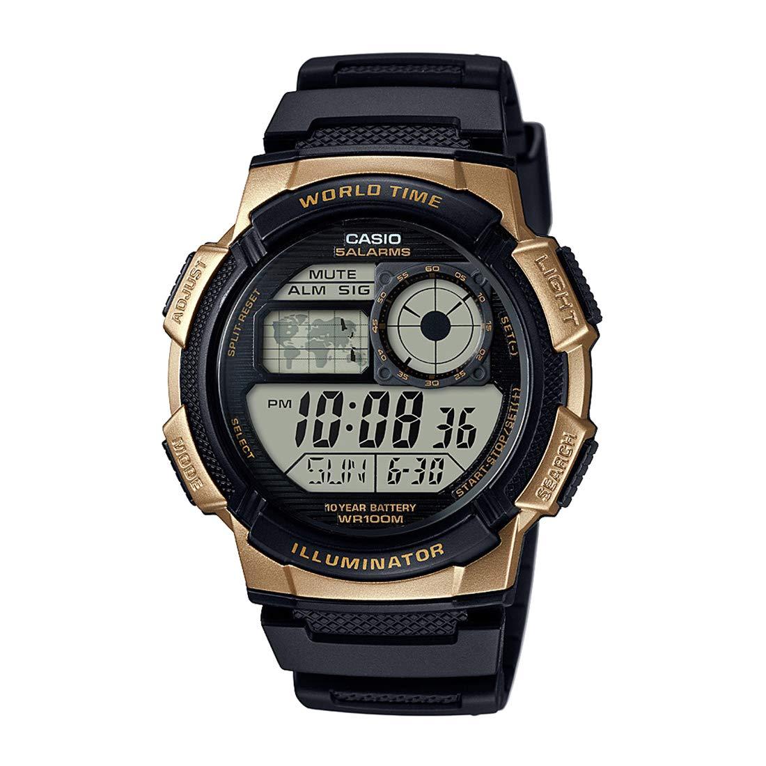 Casio Reloj Digital para Hombre de Cuarzo con Correa en Caucho AE-1000W-1A3