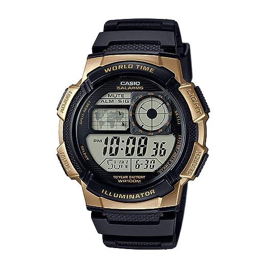 Casio Reloj Digital para Hombre de Cuarzo con Correa en Caucho AE-1000W-1A3: Amazon.es: Relojes
