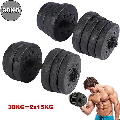 Peso dumbbell-66lbs/30kg ajustable juego de mancuernas ajustable Cap Barbell platos para gimnasio