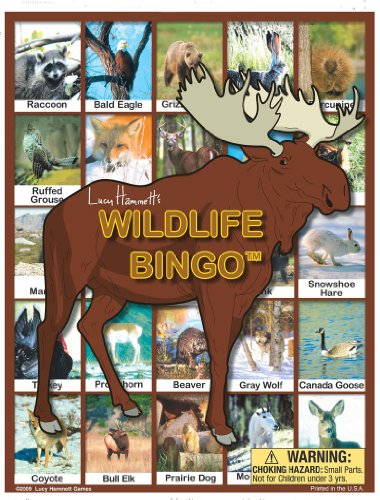 Many Wildlife Animals (Wildlife Bingo Board Game)