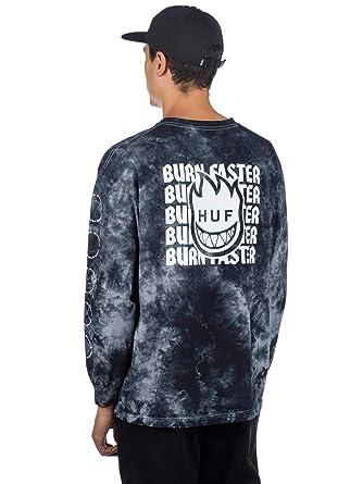 9cd20fdcf2 Amazon.com  HUF Mens Spitfire Burn Faster Long Sleeve T-Shirt ...