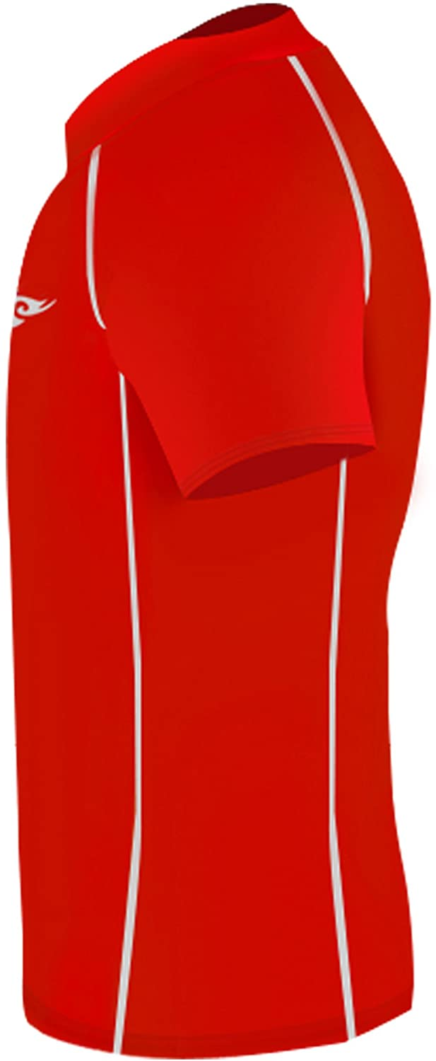 New Boys /& Girls Youth 090 Red Compression Skin Tight Short Shirt