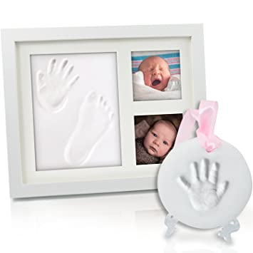 Amazon.com : HuGreat Baby Handprint, Footprint wooden frame-FREE ...