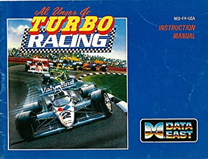 Al Unser Jr Turbo Racing NES Instruction Booklet (Nintendo Manual ONLY - NO GAME)
