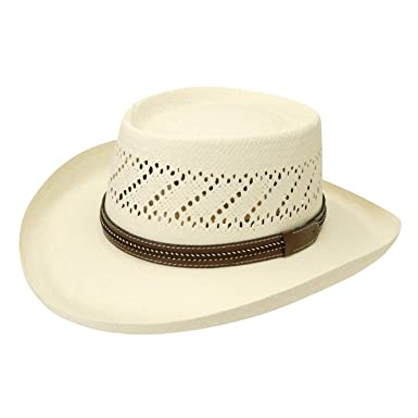 73a5e240649b1 Image Unavailable. Image not available for. Color  Black Creek Men s Gambler  Straw Hat ...