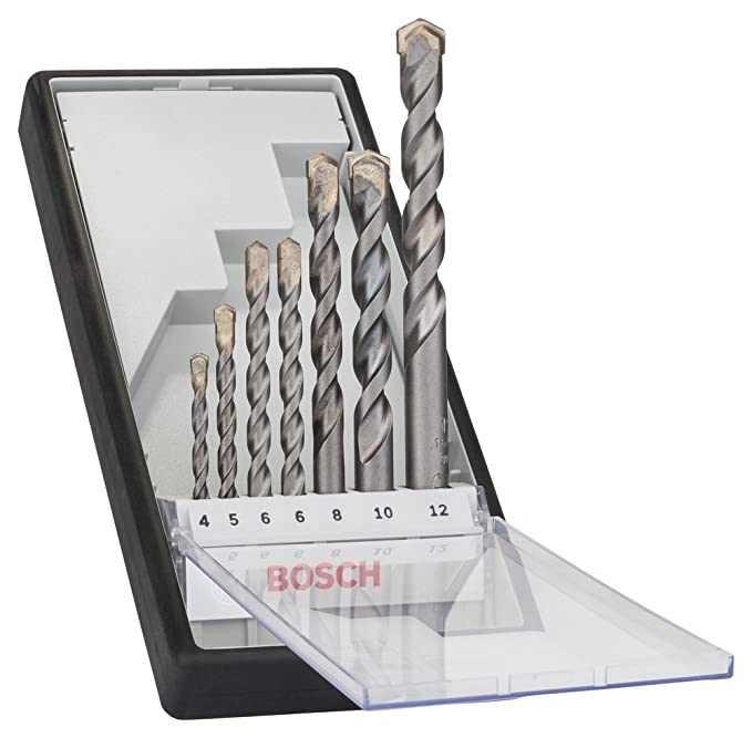 Bosch 2607010545 Set de 7 Forets à béton Robust Line CYL-3 4/ 5/ 6/ 6/ 8/ 10/ 12 mm