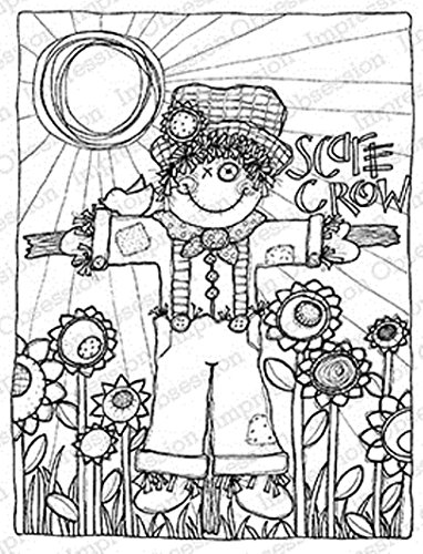 IO Scarecrow Wood Mounted Rubber Stamp by Impression Obsession, Inc. - Lindsey Ostrom L19027 -