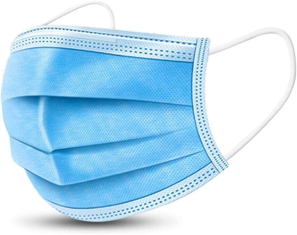 50 PCS Disposable Earloop Face Masks, Face Masks,3-Ply Face Mask Surgical Dental...
