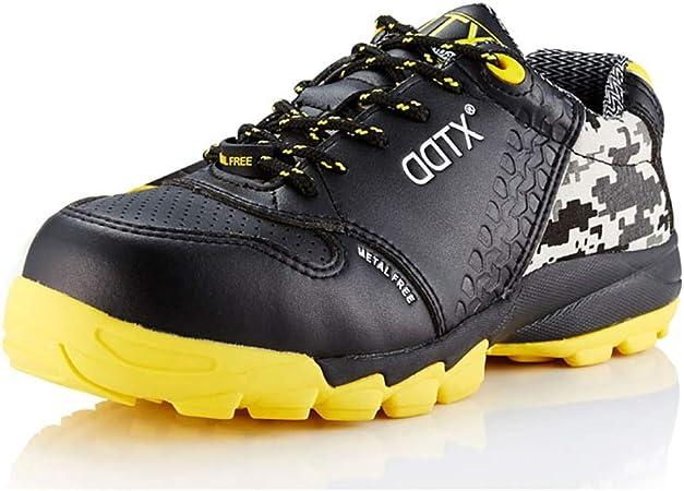 Zapatos de seguridad Súper fibra Zapatillas de trabajo ligeras, zapatillas de seguridad con punta de acero de plástico ultraligeras, anti ácaros, antipinchazos, zapatillas protectoras, zapatillas de s: Amazon.es: Hogar