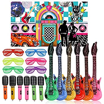 Amazon Com Boao 35 Pieces 1950 S Rock And Roll Music Party