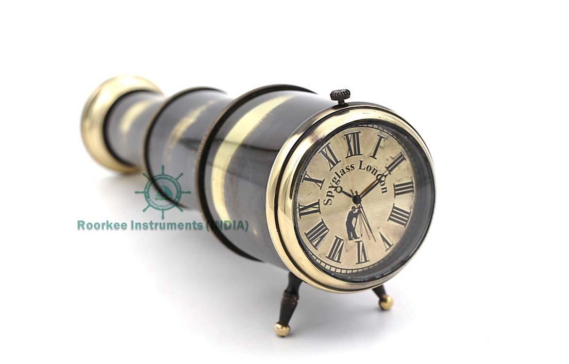Gifts IdeaTelescope Desk Clock Spyglass London/Computer Table Clock