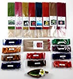 Relaxation with 19 scented, Thai tradition temple incense 20 sticks, 8 packs of 10 smokeless fragrance incense tube, 10 packs of 10 aroma fragrance Incense cones & handmade ceramic Incense burner (P4)