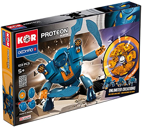 Geomag Kor Proteon Blatta Transformer – 103 Piece Creative Magnet Playset Toy – Swiss Made – Part of Geomag's World Famous Award Winning Product Line – Expert Level – Ages 5 and Up by Geomag