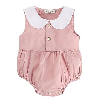 f355ef8be9d7 OUBAO Baby Romper Summer Newborn Toddler Infant Boy Girl Sleeveless ...