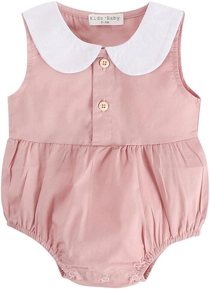 Neonato Infantili Ragazze Senza Maniche Pigiama Romper Estate Stampa Tuta Pagliaccetto Top Bodysuit Jumpsuits Outfits Abiti Set BeautyTop Bambina Pagliaccetto
