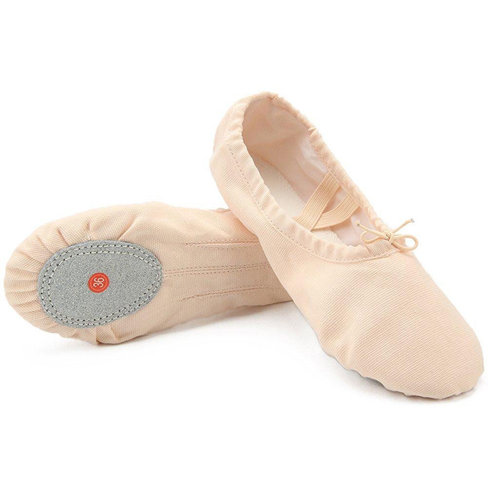Dreamone Chaussures de Ballet Fille Chaussures Classique Chaussures de Chaussures Danse Fille Gymnastique Yoga Ballerines Chaussons Femme W-beige dddca22 - jessicalock.space