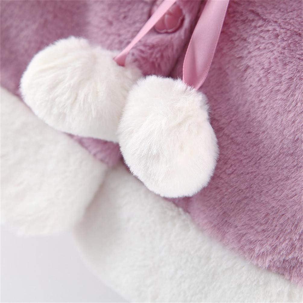 JIANLANPTT Christmas Baby Kids Toddler Cute Hooded Cape Cloak Poncho Hoodie Coat