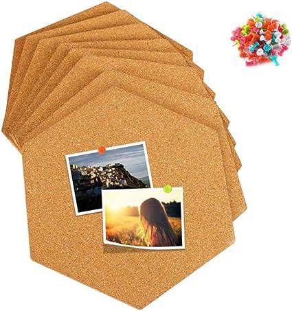 Corcho Pared Autoadhesivo Tablero de Corcho para DIY Colgar Fotos Decoraci/ón Hogar Notas Oficina 40 Chinchetas 8 Piezas