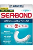THREE PACKS of Seabond Denture Fixative Lowers