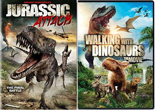 Walking with Dinosaurs Movie & Jurassic Attack Set DVD Dino Pack Films