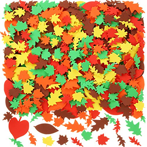 Blulu 900 Pieces Fall Leaf Stickers Adhesive Foam Maple Leaves Stickers  Assorted Leaf Shapes Stickers For Kid's Art Craft Halloween Thanksgiving  Party Decoration- Buy Online In Aruba At Aruba.desertcart.com. ProductId :  163561529.