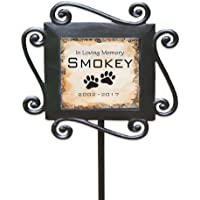 """GiftsForYouNow Personalized Pet Memorial Garden Stake, 28"""" by 8.5"""", Wrought Iron Stake…"""