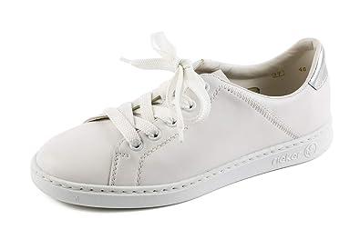 1860a00cadd243 Rieker Damen Komfort Sneaker Low Weiß Gr. 37  Amazon.de  Schuhe ...