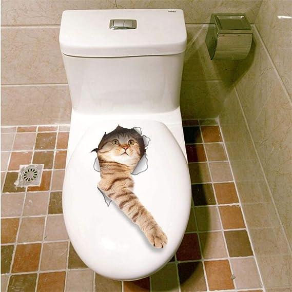 Cat Vivid 3D Agujero De La Mirada Etiqueta De La Pared ...