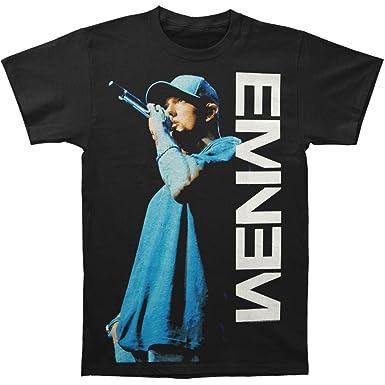 Eminem - Mens On The Mic T-Shirt  Amazon.co.uk  Clothing 0a03ab3021a