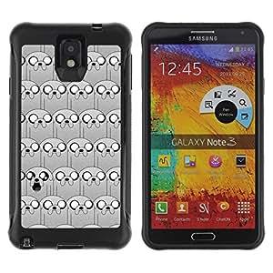 LASTONE PHONE CASE / Suave Silicona Caso Carcasa de Caucho Funda para Samsung Note 3 / puppy cartoon pattern comic character