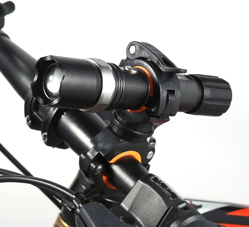 360/ºRotaci/ón Soporte de Montaje Bike Clip Pieza para Bicicleta Vonpri Soporte para Linterna