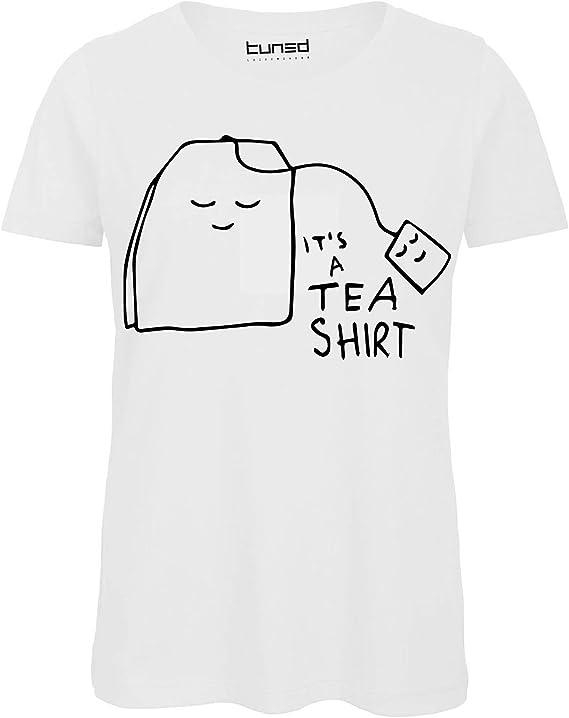 T-Shirt Divertente Donna Maglietta Cotone con Stampa Frasi Ironiche Tea Shirt Tuned CHEMAGLIETTE
