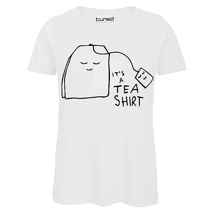 f60704e3e9 CHEMAGLIETTE! T-Shirt Divertente Donna Maglietta Cotone con Stampa Frasi  Ironiche Tea Shirt Tuned