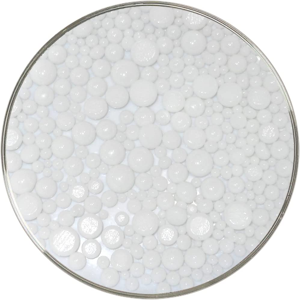 90COE White Opalescent Frit Balls New Larger 1oz Size Made from Bullseye Glass